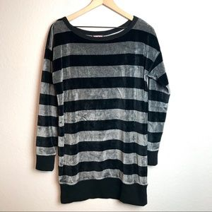 Juicy Couture Striped Velour Tunic Dress